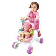 Stroll along walker and doll by Fisherprice