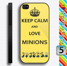 Keep Calm and Love Despicable Me Minions Iphone case