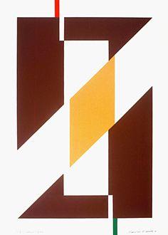 Salerno, Itália 1991 | Maurício Nogueira Lima serigrafia sobre papel, P.I.II 70.00 x 50.00 cm