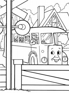 Stanley the tram engine coloring pages ~ Thomas Tank Engine Train Kids Colouring Pictures to Print ...