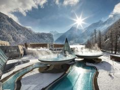 Places ~ Aqua Dome Hotel, Austria, I might even go back to the snow if I could stay somewhere like this.