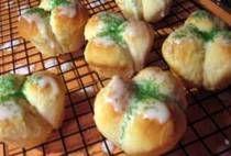 Cloverleaf Dessert Buns for Saint Patrick's Day