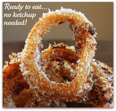 Baked Onion Rings...with BBQ sauce built in!