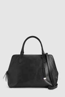 Buy Black Leather Large Formal Kettle Bag from the Next UK online shop Ladies Purse, Purse Wallet, Kettle, Women's Accessories, Purses And Bags, Gym Bag, Black Leather, Uk Online, Formal