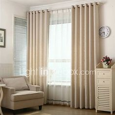 Two+Panels+European+Solid+Living+Room+Linen+Blackout+Curtains+Drapes+-+JPY+¥5,820+!+HOT+Product!+A+hot+product+at+an+incredible+low+price+is+now+on+sale!+Come+check+it+out+along+with+other+items+like+this.+Get+great+discounts,+earn+Rewards+and+much+more+each+time+you+shop+with+us!