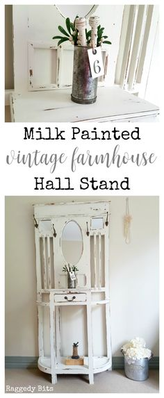 Discover the power of paint as I give an old hall stand a fresh new look. Sharing a tutorial on our Milk Painted Vintage Farmhouse Hall Stand.