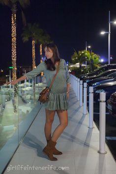 Boho chic style beautiful pregnant girl, Tenerife