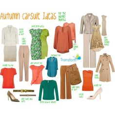 """""""Autumn Capsule for the warmer months"""" by transform-image-consulting on Polyvore"""