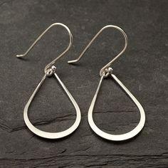 Teardrop Earrings Silver Dangle Earrings Handmade by Artulia, $28.00