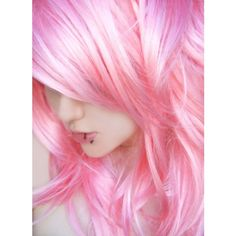 Pretty in Pastel Pink Hair Colors Ideas found on Polyvore