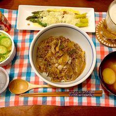 白菜たっぷり♡ - 12件のもぐもぐ - 白菜のとろとろ中華丼 アスパラチーズ焼き お麩のお味噌汁 サラダ もずく by hasese