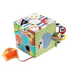 Cubo de atividades para bebé de tecido ACTIVITY TEX-CUBE