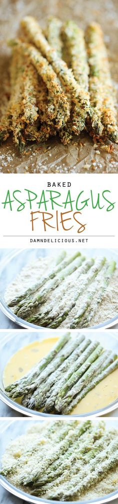 Baked Asparagus Fries - A healthy alternative to french fries baked to crisp perfection right in the oven! More Vegetarian Recipe, Healthy Recipe Baked Asparagus Fries - A healthy alternative to french fries baked to crisp perfection right in the oven! Side Dish Recipes, Vegetable Recipes, Vegetarian Recipes, Cooking Recipes, Healthy Recipes, Recipes Dinner, Potato Recipes, Pasta Recipes, Crockpot Recipes