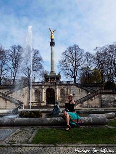 2017, весна, Мюнхен, Бавария, Германия, цветы, природа, деревья, лестница, площадь, статуя, фонтан, 2017, spring, Munich, Bavaria, Germany, flowers, nature, trees, stairs, square, statue, fountain,