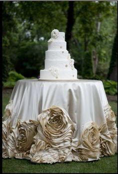 cake table skirt.  WOW!!!