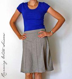Secretary Pintuck Skirt via Running with Scissors