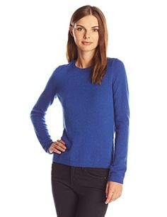 Lark and Ro Women's Cashmere Slim-Fit Crew-Neck Sweater ** Details can be found by clicking on the image.