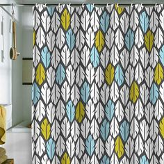 amazing shower curtain from Pure Home. Would look great in my boys bathroom.