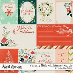 A Merry Little Christmas - Cards by Jady Day Studio!   Save 20% off today only, Nov 15th!! #christmas #digital #cards