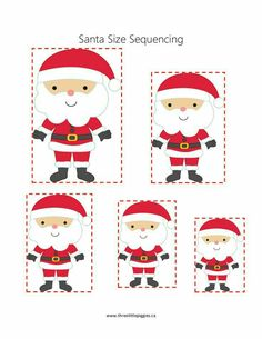 Santa Size Sequencing by carlani Christmas Worksheets, Christmas Activities For Kids, Preschool Christmas, Craft Activities For Kids, Preschool Crafts, Christmas Mood, Christmas Baby, Christmas Themes, Handmade Christmas