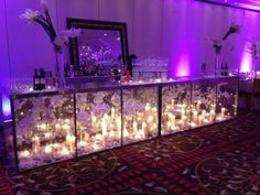 """10 Ways to """"Set the Bar"""", Candles and Flowers by Morrell Caterers - mazelmoments.com"""