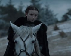 Lady Lyanna Mormont and her war face.
