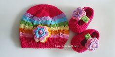 Rainbow Babyset for 3-6 months Free Crochet Pattern