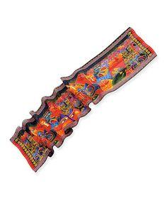 Loving this Orange & Black Fantasticats Silk Scarf on #zulily! #zulilyfinds
