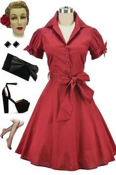 50's fashion rockabilly dress - Google Search