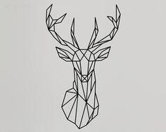 Geometric Deer Head Wall Decals Geometric Animal by LivingWall