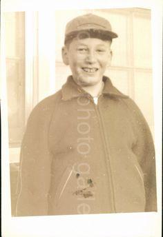 Vintage Black & White Photo of Teenage Boy   by foundphotogallery