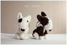 Amigurumi Minibull #bull #terrier #minibull #amigurumis #szydełkowy #dog #pet #rękodziełko #brelok #pies #crochet