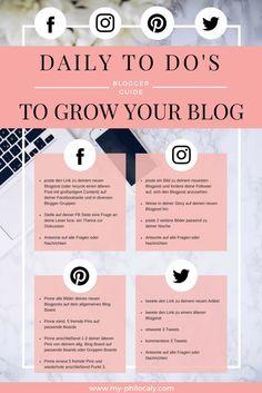 Diese daily To Do's sorgen täglich für Traffic auf deinem Blog und vergrößern gleichzeitig die Reichweite auf deinen Social Media Kanälen! Erhalte Tipps für mehr Reichweite auf deinem Blog und erhalte auch langfristig mehr Stammleser!