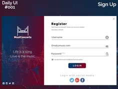 Sign Up - DailyUI #001 by Raden Rizqan Fadhilah