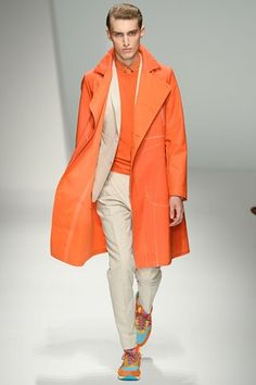 Want to be wrapped in this orange Ferragamo swirl?