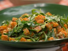 Sweet Potato and Arugula Salad recipe from Katie Lee via Food Network.     NEED TO TRY WITH SPINACH