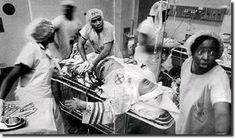 African American doctors attempting to save the life of a Klu Klux Klan member