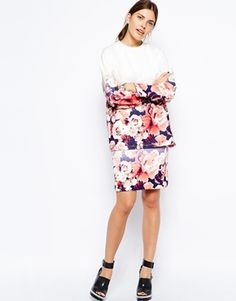 Finders Keepers Nothing to Lose Skirt in Ombre Floral