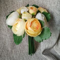Silk Peony Bouquet Artificial Camellia Flower Bouquet For