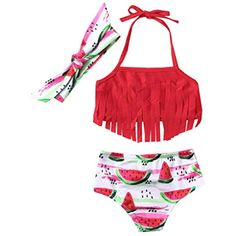 Lollyeca Infant Kids Girl One-Shoulder Two-Piece Bathing Suit Set Baby Swimsuit