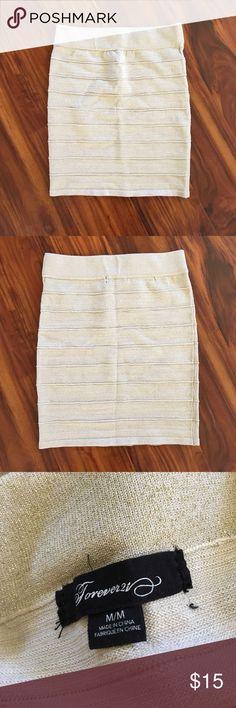 F21 Gold Bandage Skirt, Size M Lightly worn, Forever 21, Gold Bandage Skirt, Size M. $15 OBO. Forever 21 Skirts Pencil