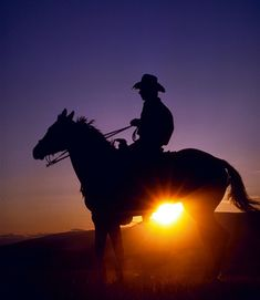 Cowboy's and sunsets :)