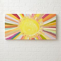 Shop Colorful Sunshine Painting. Bring a little sunshine into your home with this bright and sunny wall art.