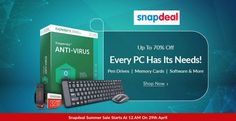 Upto 70% Off On Every PC Has Its Needs Pendrives,Memory Cards,Software and More  http://goosedeals.com/home/details/snapdeal/145091.html
