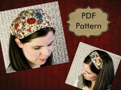 Head covering Pattern Headcovering Pattern Wide Fabric Headband Pattern Tutorial Adult Women Sewing PDF Pattern. $9.00, via Etsy.