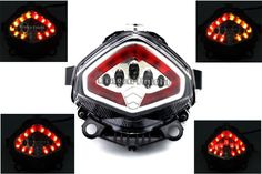 For HONDA CB 400X CB500X 13-15 Integrated LED Tail Light Turn Signals Blinker Clear Motorcycle Accessories #Affiliate