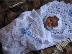 Комплект для выписки новорожденного. Часть 3. Плед - YouTube