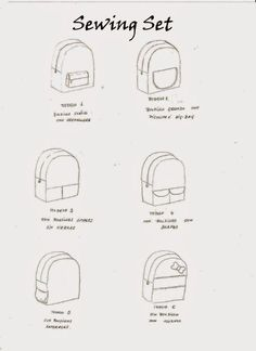seis modelos de mochila para niños con patron y tutorial