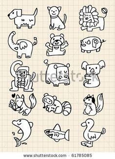 hand draw animals by notkoo, via Shutterstock