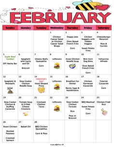 February 2017 Budget Menu Plan | Weekly Grocery Lists & Recipes | Budget Menu Plan by MomsBistro on Etsy